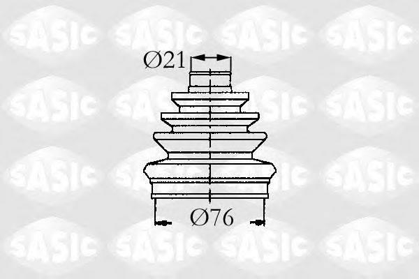 Комплект пылника, приводной вал SASIC 9004629