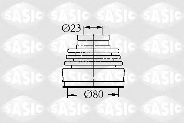 Комплект пылника, приводной вал SASIC 9004630