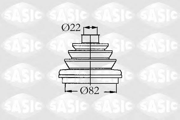 Комплект пылника, приводной вал SASIC 9004683