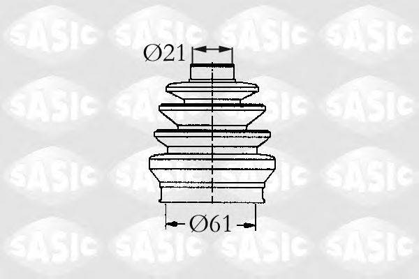 Комплект пылника, приводной вал SASIC 9004723