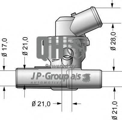 JP GROUP 3014600119 Термостат, охлаждающая жидкость