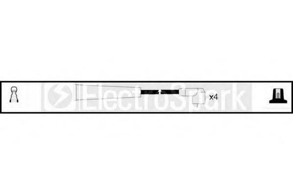 STANDARD OEK253 Комплект проводов зажигания
