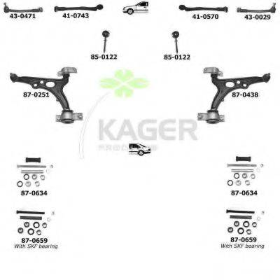 KAGER 800023 Подвеска колеса