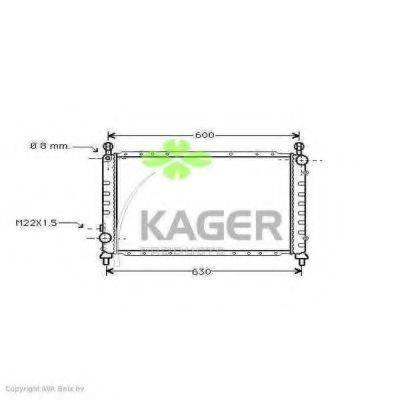 KAGER 310062 Радиатор, охлаждение двигателя