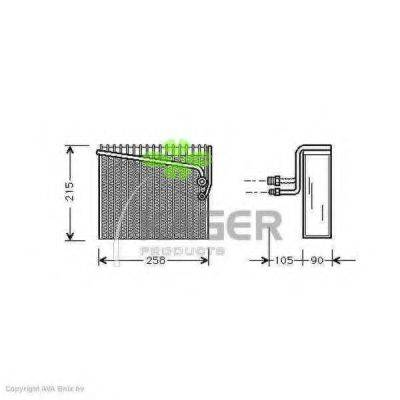 KAGER 945162 Испаритель, кондиционер