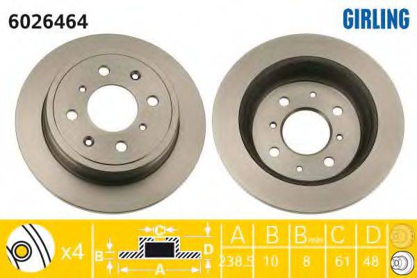 Тормозной диск GIRLING 6026464