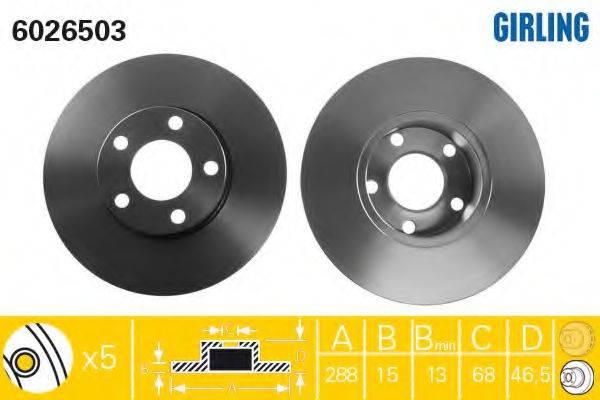 Тормозной диск GIRLING 6026503