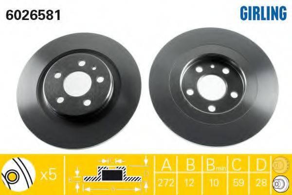 Тормозной диск GIRLING 6026581