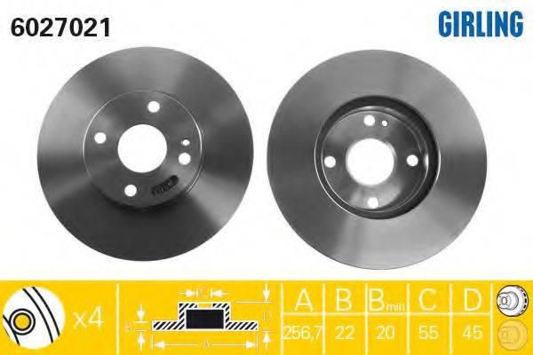 Тормозной диск GIRLING 6027021