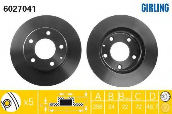 Тормозной диск GIRLING 6027041