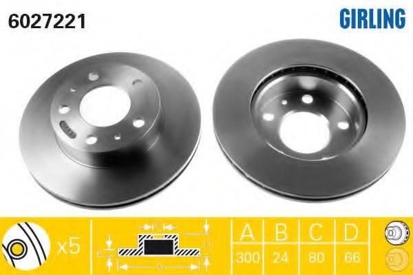 Тормозной диск GIRLING 6027221