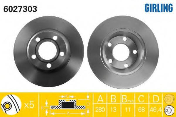 Тормозной диск GIRLING 6027303
