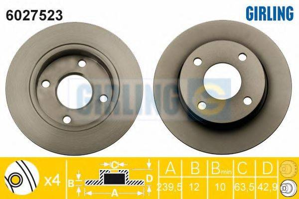 Тормозной диск GIRLING 6027523