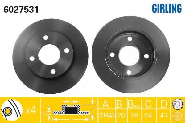 Тормозной диск GIRLING 6027531