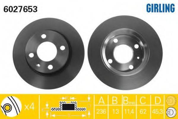 Тормозной диск GIRLING 6027653