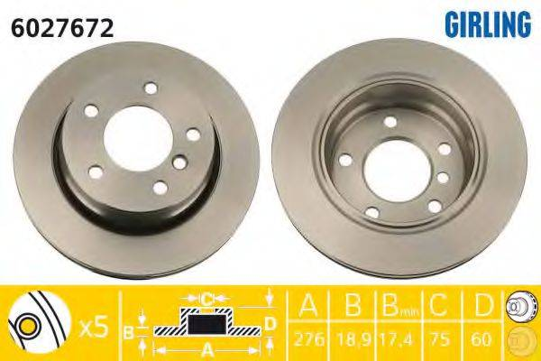 Тормозной диск GIRLING 6027672