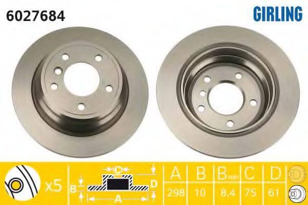 Тормозной диск GIRLING 6027684