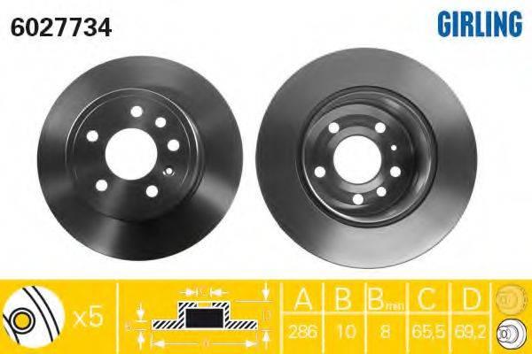 Тормозной диск GIRLING 6027734
