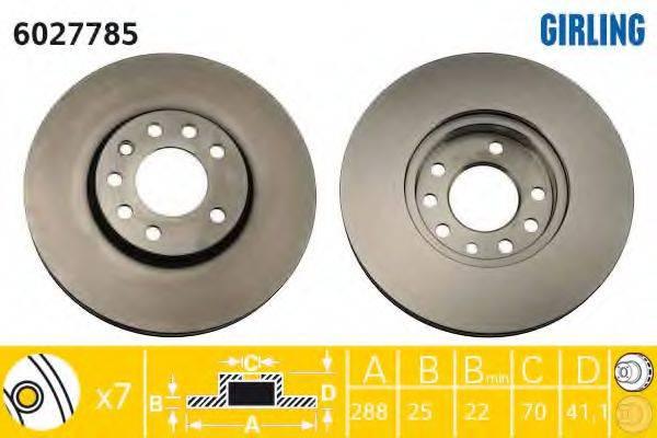 Тормозной диск GIRLING 6027785