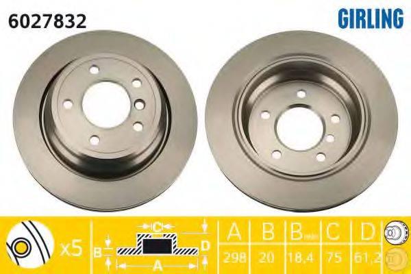 Тормозной диск GIRLING 6027832