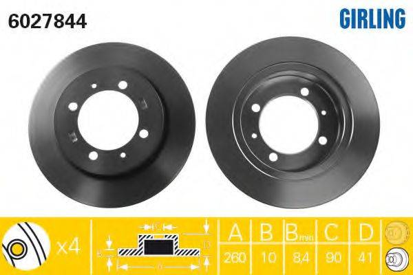 Тормозной диск GIRLING 6027844