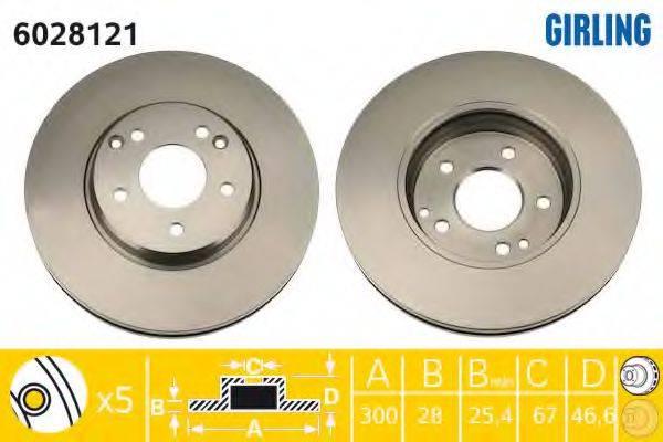 Тормозной диск GIRLING 6028121