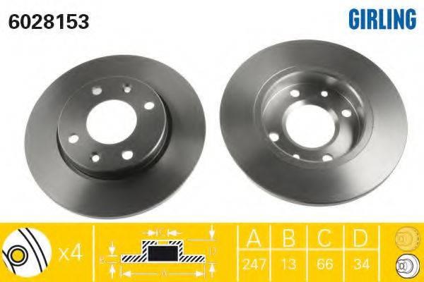 Тормозной диск GIRLING 6028153