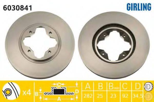 Тормозной диск GIRLING 6030841