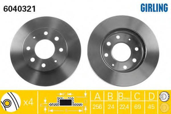 Тормозной диск GIRLING 6040321