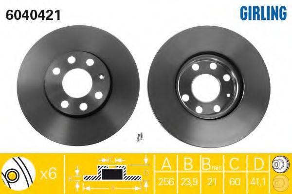 Тормозной диск GIRLING 6040421