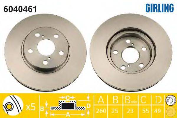 Тормозной диск GIRLING 6040461