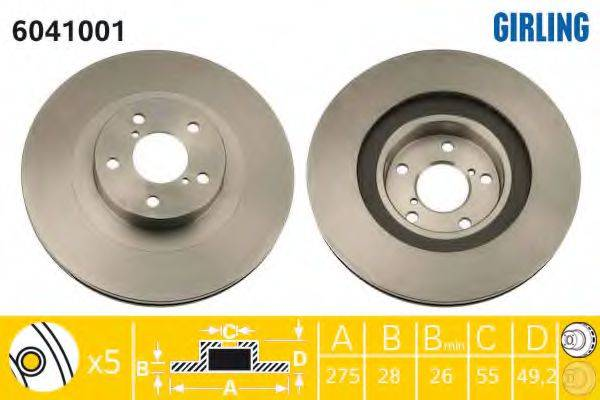 Тормозной диск GIRLING 6041001