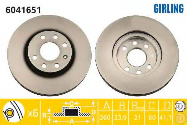 Тормозной диск GIRLING 6041651
