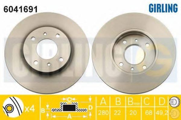 Тормозной диск GIRLING 6041691