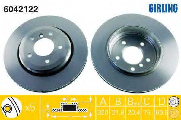 Тормозной диск GIRLING 6042122
