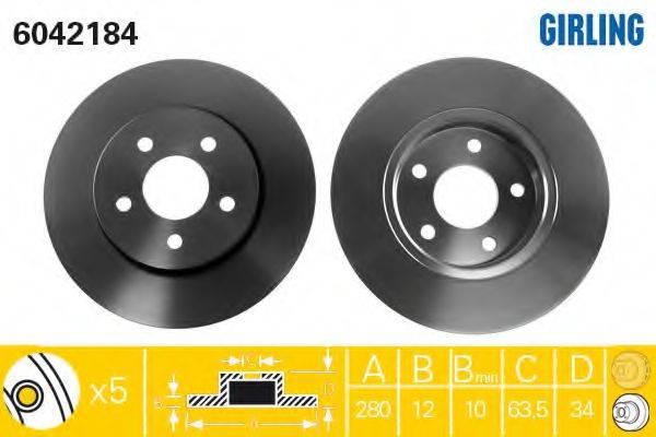 Тормозной диск GIRLING 6042184