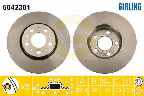 Тормозной диск GIRLING 6042381