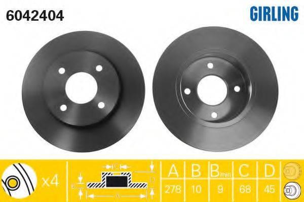 Тормозной диск GIRLING 6042404