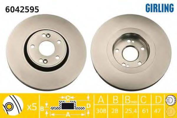 Тормозной диск GIRLING 6042595