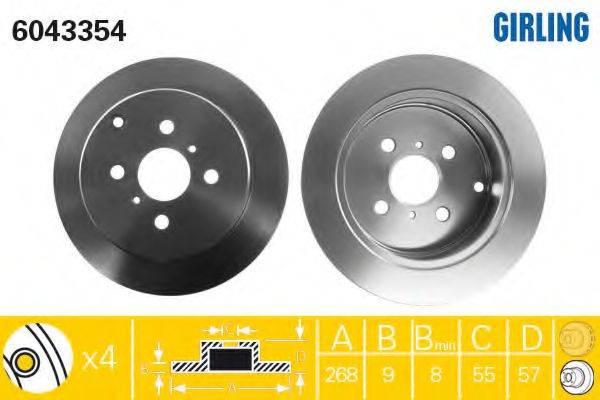 Тормозной диск GIRLING 6043354