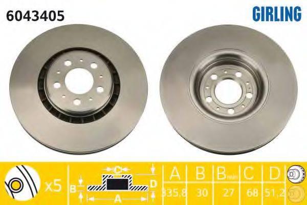 Тормозной диск GIRLING 6043405