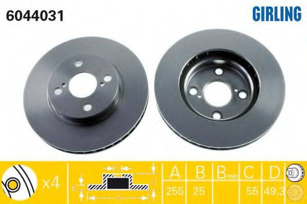 Тормозной диск GIRLING 6044031
