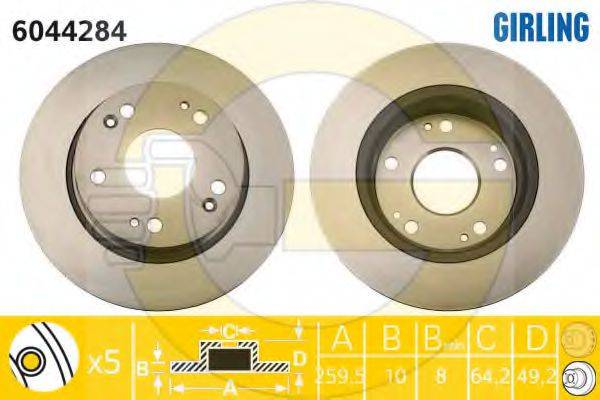 Тормозной диск GIRLING 6044284