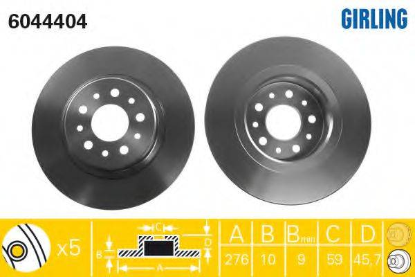 Тормозной диск GIRLING 6044404