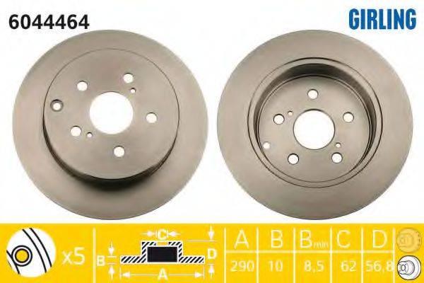 Тормозной диск GIRLING 6044464