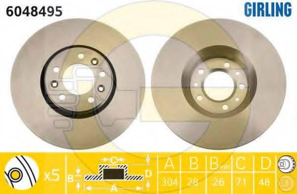 Тормозной диск GIRLING 6048495