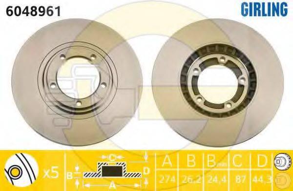 Тормозной диск GIRLING 6048961