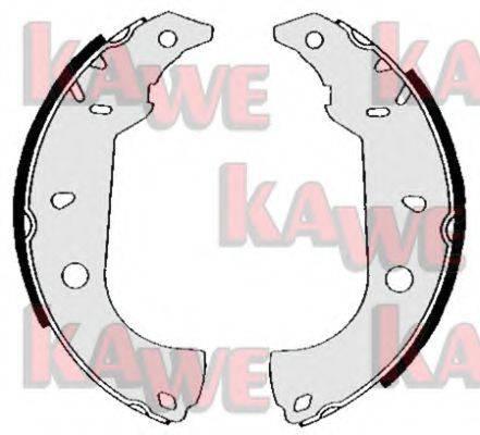 KAWE 04860 Комплект тормозных колодок