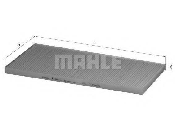 MAHLE ORIGINAL LA34 Фильтр, воздух во внутренном пространстве
