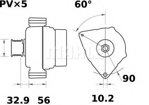 MAHLE ORIGINAL MG48 Генератор